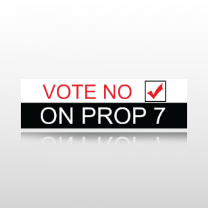 Vote No Bumper Sticker 1 - Bumper Sticker
