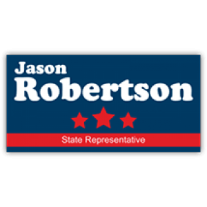 J.R. State Representative Sign - Magnetic Sign
