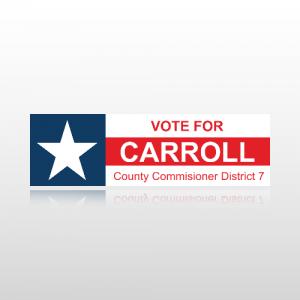 County Commissioner Sticker 1 - Bumper Sticker