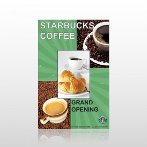 Starbucks Single Sided Flyer