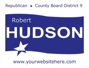Political Custom Sign 51 - Yard Sign