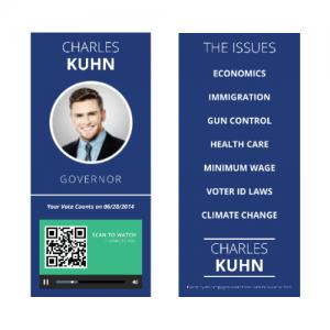 Campaign Buzz Cards - Design 1 (Circle)