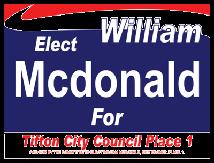 Political Custom Sign 12 - Yard Sign