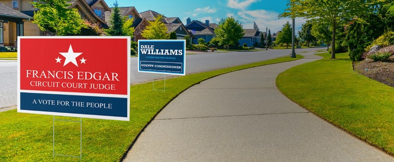 political yard signs custom caign lawn signs ship fast
