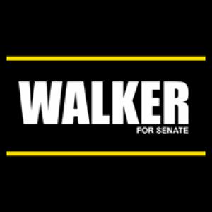 Walker For Senate Sign - Magnetic Sign
