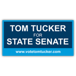 Tom Tucker State Senate Sign - Magnetic Sign