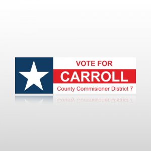 County Commissioner Sticker 1 - Bumper Sticker