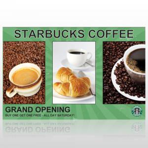 Starbucks Single Sided Flyer
