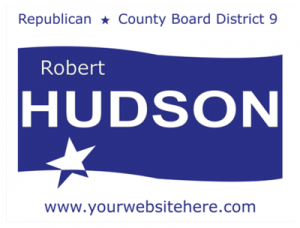 Political Custom Sign 51 - Yard Sign