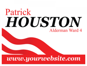 Political Custom Sign 52 - Yard Sign