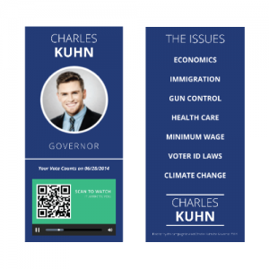 Campaign Buzz Cards - Design 1 (Circle)