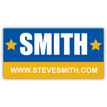 Steve Smith Political Candidate Sign - Magnetic Sign