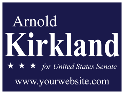 Political Custom Sign 20 - Yard Sign