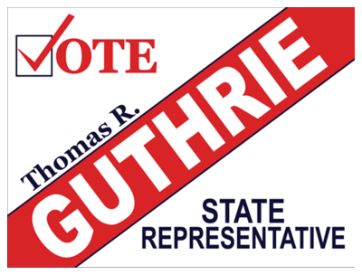 state representative political yard signs by speedysignsusa